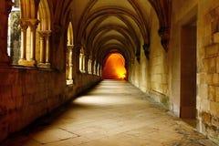 Alcobaca Monastery cloister, Alcobaca, Portugal Stock Images