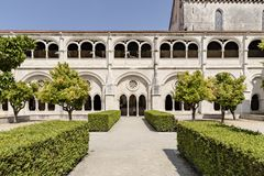 ALCOBACA, PORTOGALLO - 20 maggio 2018: Giardini del Mosteiro de Santa Maria de Alcobaca Immagine Stock Libera da Diritti
