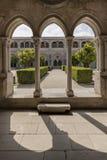 ALCOBACA, PORTUGAL - jardines el Mosteiro de Santa Maria de Alcobaca Imagen de archivo libre de regalías
