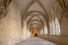 ALCOBACA, PORTUGAL - 20. Mai 2018: Halle im Mosteiro De Santa Maria de Alcobaca Lizenzfreies Stockfoto