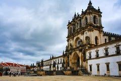 ALCOBACA, PORTUGAL - MARCH 28, 2018. Alcobaca Monastery stock photo