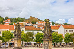 Alcobaca town and Mediaeval Roman Catholic Monastery, Portugal.  stock photos