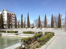 Alcobendas and the mountains. Alcobendas is one of the cities in the Community of Madrid, Spain Royalty Free Stock Photography