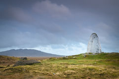 Alcocken och den bruna landningsplatsen Arkivfoton