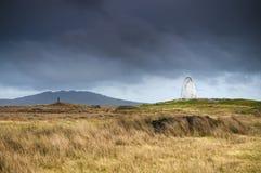 Alcocken och den bruna landningsplatsen Royaltyfri Foto
