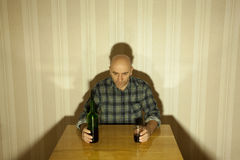 Alcohólico Imágenes de archivo libres de regalías