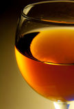 Alcohol. A glass alcohol. Close up Royalty Free Stock Images