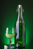 Alcohol absinthe glass Royalty Free Stock Photography