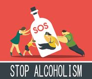 Alcohol abuse Stock Photography