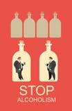 Alcohol abuse stock illustration