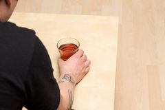 Alcohol abuse Royalty Free Stock Photography