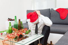 Alcohol abuse during holiday period Royalty Free Stock Photography