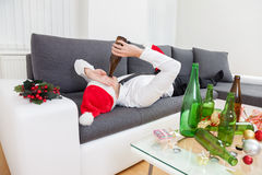 Alcohol abuse during holiday period Royalty Free Stock Photos