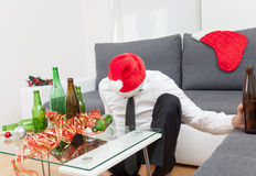 Alcohol abuse during holiday period. Can hurt Royalty Free Stock Image