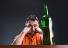 Alcohol addict Stock Images