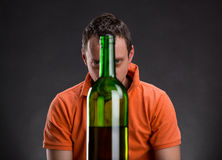 Alcohol addict Royalty Free Stock Image