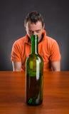 Alcohol addict Royalty Free Stock Photos