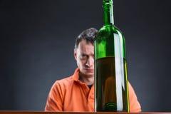Alcohol addict Stock Photo