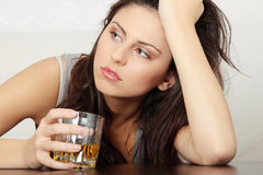 Alcohol addicted Royalty Free Stock Photography