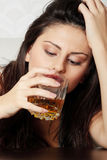 Alcohol addicted Royalty Free Stock Photos