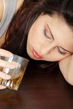 Alcohol addicted Stock Image