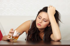 Alcohol addicted Stock Photography
