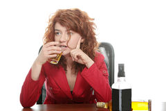 Alcohol addiction Royalty Free Stock Photos