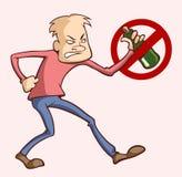 Alcohol Addiction Royalty Free Stock Photography