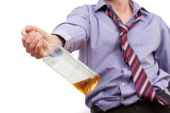 Alcohol addiction Stock Image
