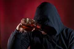 Alcohol addiction Royalty Free Stock Image