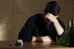 Alcohol addiction among young people Royalty Free Stock Images
