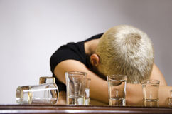 Alcohol addiction Stock Images