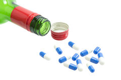 Free Alcohol And Pills Royalty Free Stock Photography - 28508977