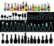 Alcohol assortment. Stock Photos