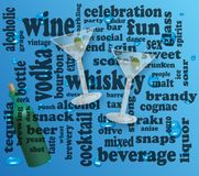 Alcohol background Stock Images