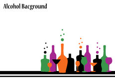 Alcohol background Stock Photos