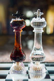 Alcohol battle. Cognac vs Vodka Royalty Free Stock Image
