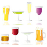 Alcohol baverages Stock Images