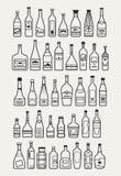Alcohol, bebidas, iconos de la bebida Fotografía de archivo