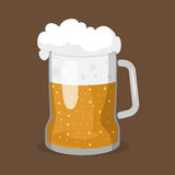 Alcohol beer vector illustration refreshment brewery and party dark beverage mug frosty craft drink. Royalty Free Stock Photos