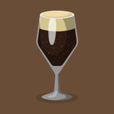 Alcohol beer vector illustration refreshment brewery and party dark beverage mug frosty craft drink. Stock Image