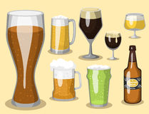 Alcohol beer vector illustration refreshment brewery and party dark beverage mug frosty craft drink. Stock Photos