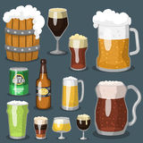 Alcohol beer vector illustration refreshment brewery  Royalty Free Stock Image