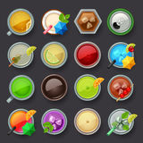 Alcohol beverage and cocktail icon set Royalty Free Stock Photos