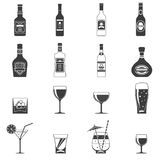 Alcohol Black Icons Royalty Free Stock Images