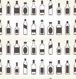 Alcohol bottels seamless patten - booze. Background Stock Image