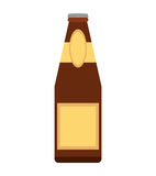 Alcohol bottle pouring liquid beverage dot line Stock Image