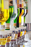 Alcohol bottles Royalty Free Stock Image