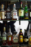 Alcohol bottles Royalty Free Stock Photography