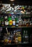 Alcohol bottles Royalty Free Stock Photos